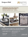 September 22 - Sustainable Materials for the Bath CEU Approved